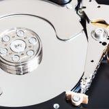 Disassembled internal hard disk drive. Disassembled internal 3.5-inch sata hard disk drive close up Stock Photos
