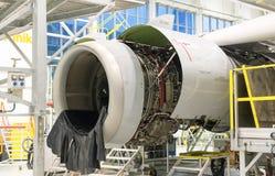 Disassembled jet engine Stock Images