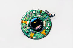 Disassembled lens Royalty Free Stock Images