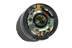 Disassembled lens. Stock Photos