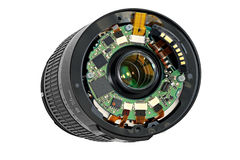 Disassembled lens. Royalty Free Stock Photo