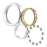 Disassembled metal bearing with attrition. Royalty Free Stock Photography