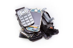 Disassembled mobile phone Royalty Free Stock Photo