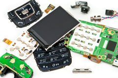Disassembled phone Royalty Free Stock Image