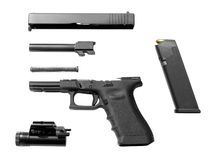 Disassembled Pistol Royalty Free Stock Photography