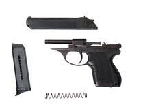 Disassembled psm-9r traumatic gun Royalty Free Stock Photography