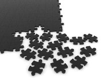 Disassembled puzzle. Stock Image