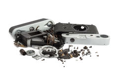 Disassembled rangefinder camera Royalty Free Stock Photos