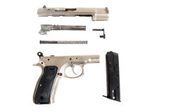 Disassembled Semi-automatic gun Stock Image
