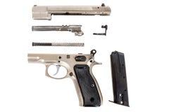 Disassembled Semi-automatic gun Royalty Free Stock Photo