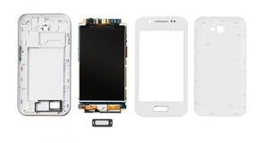 Disassembled smartphone  on white Stock Image