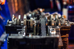 Disassembled sport motorcycle engine block Stock Images