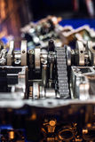 Disassembled sport motorcycle engine block Royalty Free Stock Image