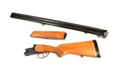 Disassembled sporting gun Royalty Free Stock Image