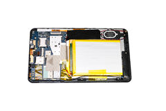 Disassembled tablet. Royalty Free Stock Photography
