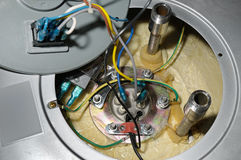 Disassembled water heater. For repair stock photo