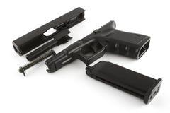 Disassemblierte Feuerwaffe Stockfoto