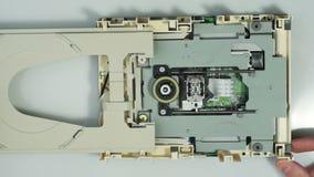 Disassembling cd-rom optical drive 01 stock video