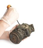 Disassembly of engine mechanism element isolated Royalty Free Stock Images
