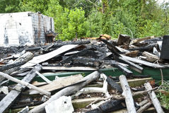 Disaster/Burned Building Stock Image