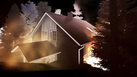 Disaster with fire in the forest 3d rendering. Disaster with fire in the forest Stock Photo