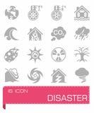 Disaster icon set Royalty Free Stock Photo