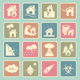 Disaster icon Stock Photos