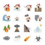 Disaster icon Stock Image