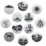 Disaster icons Royalty Free Stock Images