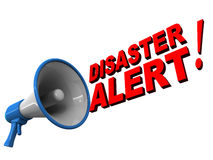 Disaster management. Disaster alert part of disaster management instrument to warn before disaster strikes Stock Images