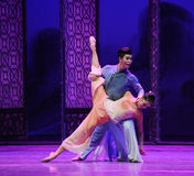 After disaster Meet again-The third act of dance drama-Shawan events of the past. Guangdong Shawan Town is the hometown of ballet music, the past focuses on the Royalty Free Stock Photography
