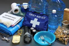 Disaster preparedness items royalty free stock image