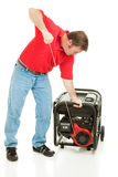 Disaster Preparedness - Starting Generator Stock Image