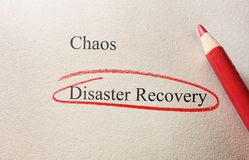 Disaster Recovery Stockfotografie