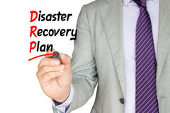 Disaster recovery plan business man stock photo