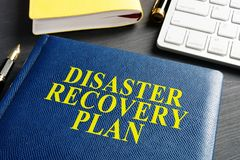 Disaster Recovery Plan on the office table. stock image