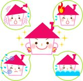 Disaster-resistant home. This is an illustration of a disaster-resistant home Stock Photos