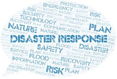 Free Disaster Response Typography Word Cloud. Royalty Free Stock Photos - 191378808