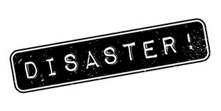 Disaster rubber stamp Royalty Free Stock Image