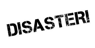 Disaster rubber stamp Royalty Free Stock Photos