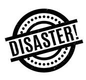 Disaster rubber stamp Royalty Free Stock Photo