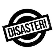 Disaster rubber stamp Stock Image