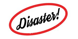 Disaster rubber stamp Stock Images