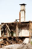Disaster ruined house Royalty Free Stock Images