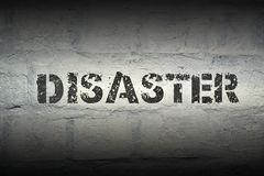 Disaster WORD GR Royalty Free Stock Photo