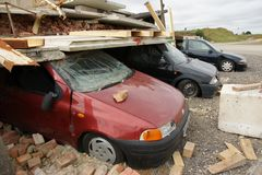 Building collapse. Disaster zone, building collapse, earthquake Royalty Free Stock Image