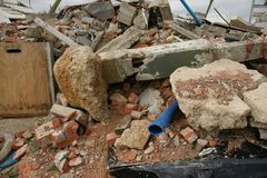 Building collapse. Disaster zone, building collapse, earthquake Royalty Free Stock Photography