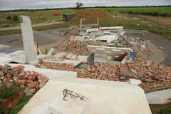 Building collapse. Disaster zone, building collapse, earthquake Stock Photography