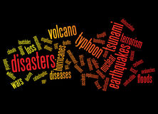 Disasters background Royalty Free Stock Image