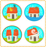 Disasters Icons Stock Images